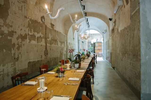 Communal Table at La Menagere