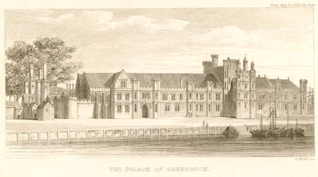 Sketch of Greenwich Palace