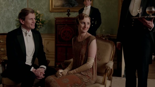Lady Edith Crawley and Michael Gregson at Downton