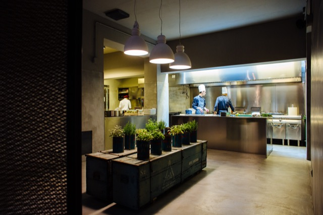 Open Kitchen at Le Menagere