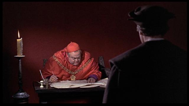 Orson Welles as Cardinal Wolsey