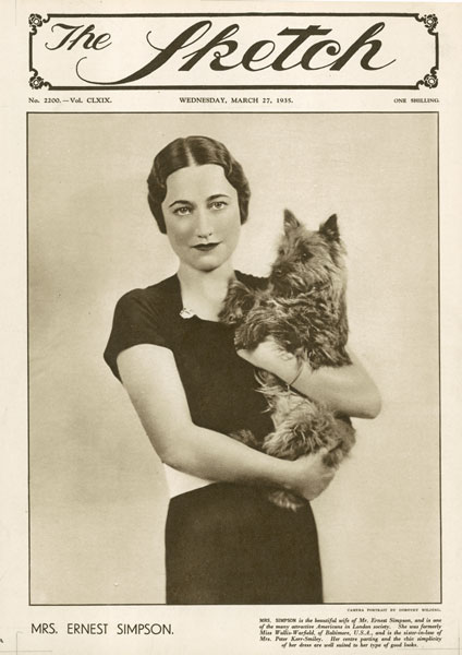 Wallis Simpson on the cover of The Sketch
