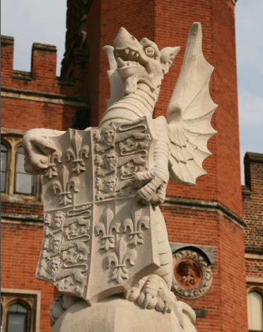 The Royal Dragon, a King's Beast, at Hampton Court Palace