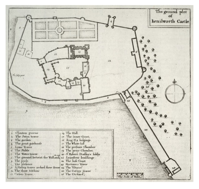 This ground plot of Kenilworth Castle in the UK shows the Tiltyard