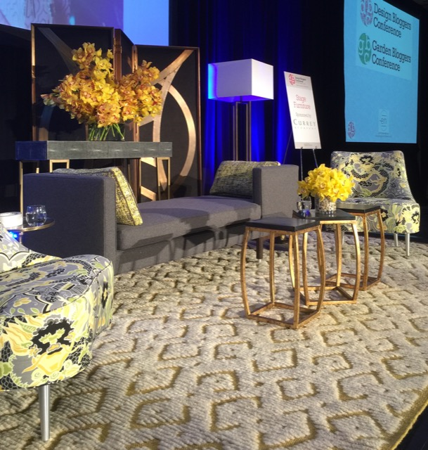 Currey and Company Stage for Design Bloggers Conference 2016