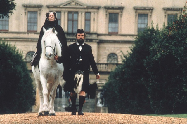 Jjohn Brown escorts Queen Victoria on horseback