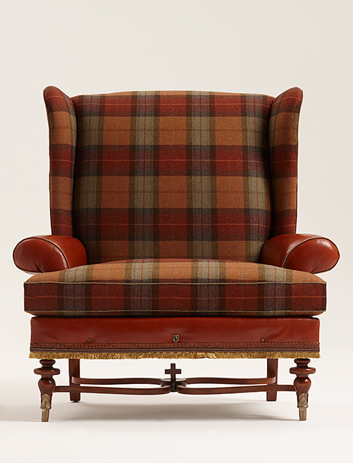 Bruce Andrews Design's Highland chair in a Scottish-inspired tweed.