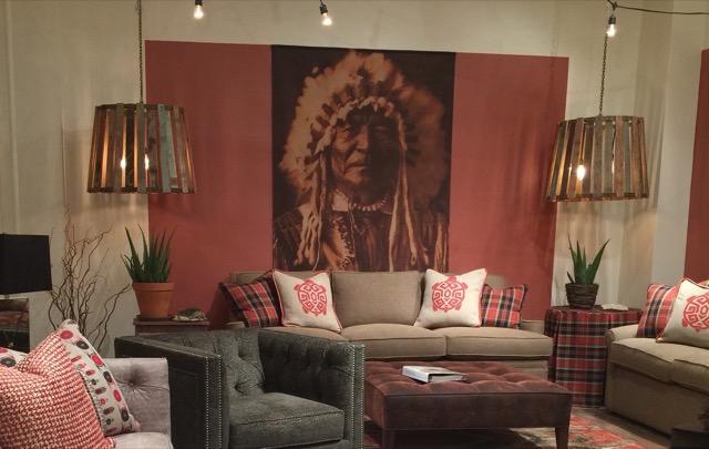 Norwalk showroom Native American vignette