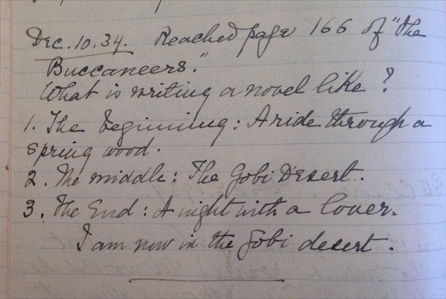A snippet from Edith Wharton writers notebook
