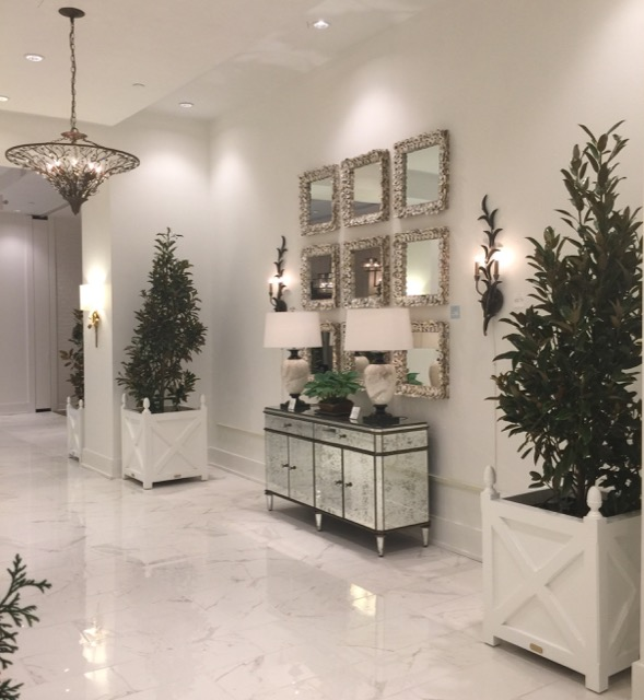 The newly expanded Currey and Company showroom in High Point