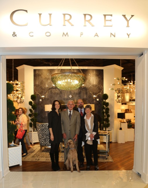 The Currey family during showroom expansion in High Point