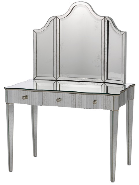 Gilda vanity and mirror Currey and Company