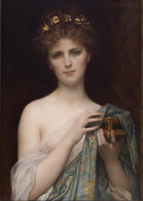 hristine Nilsson as Pandora, painted by Alexandre Cabanel