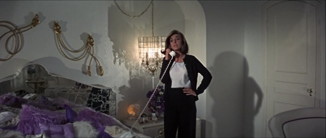 Anne Bancroft's bedroom a hint of the styles to come.