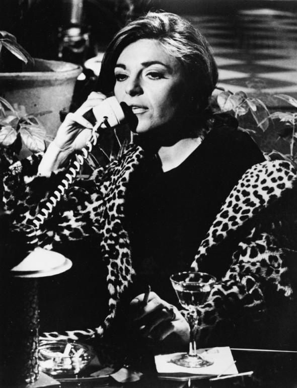 Anne Bancroft in a Leopard coat in The Graduate