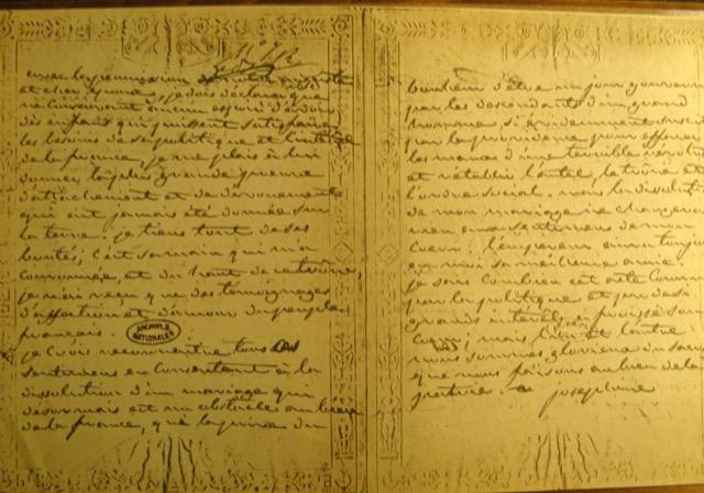 Josephine letter to Napoleon Bonaparte