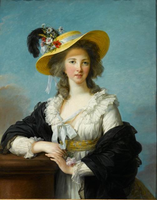 Vigée Le Brun_The Duchesse de Polignac in a Straw Hat painting
