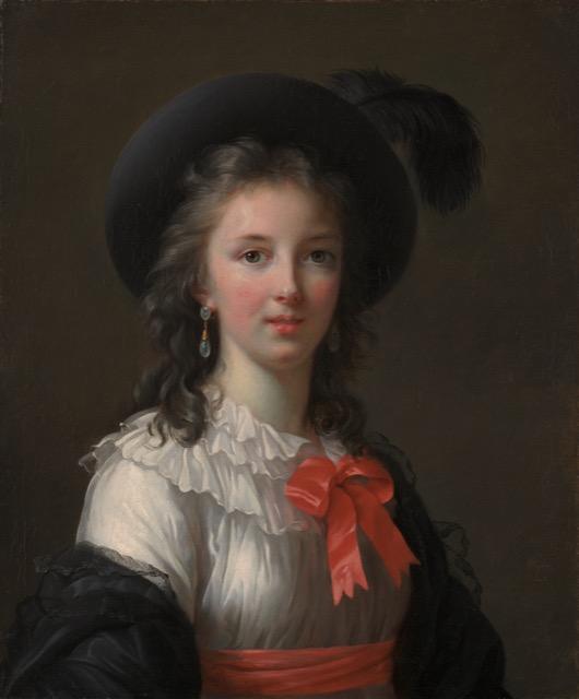Vigee Le Brun Self Portrait Cerise Ribbons