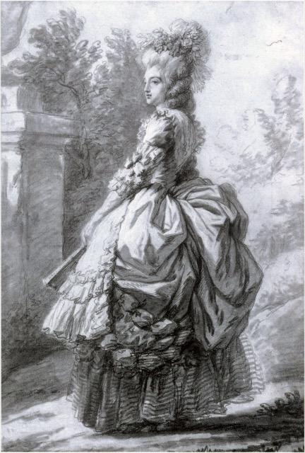 Chalk Drawing Marie Antoinette
