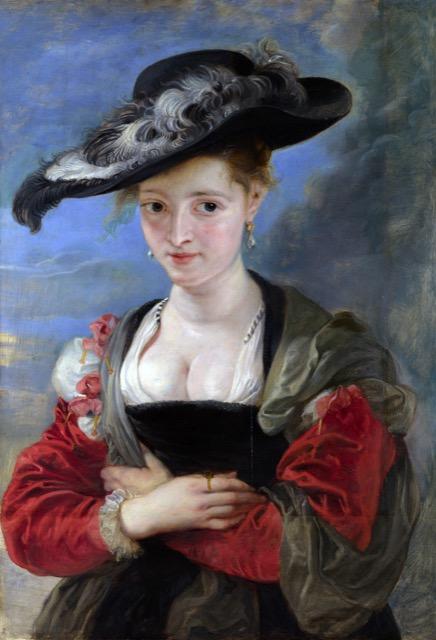 Le Chapeau de Paille painting by Peter Paul Rubens