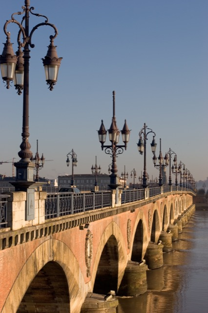 Pont de pierre bridge in Bordeaux