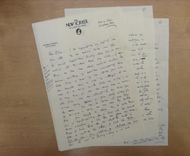 Edmund Wilson Letter to Edna St Vincent Millay