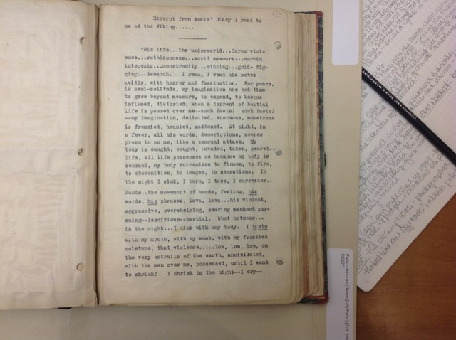 Henry Miller's Paris journal quotes Anais Nin's diaries.