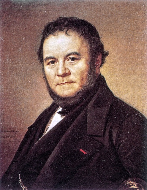 Portrait of Stendhal who traveled to Bordeaux
