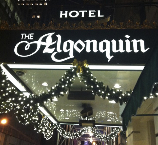Awning of Algonquin hotel