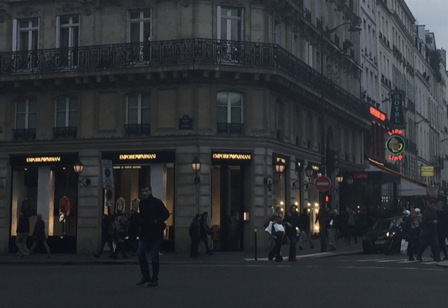 Armani is now next door to Brasserie Lipp