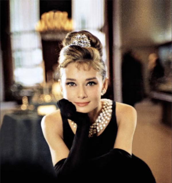 Audrey Hepburn in Truman Capote's Breakfast at Tiffany's.