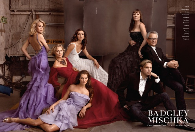 Badgley Mischka fashion by Annie Annie Leibovitz.