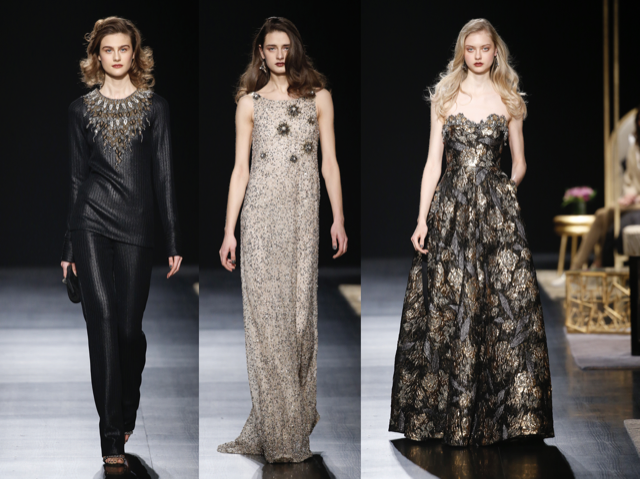 Badgley Mischka runway fashions FW17