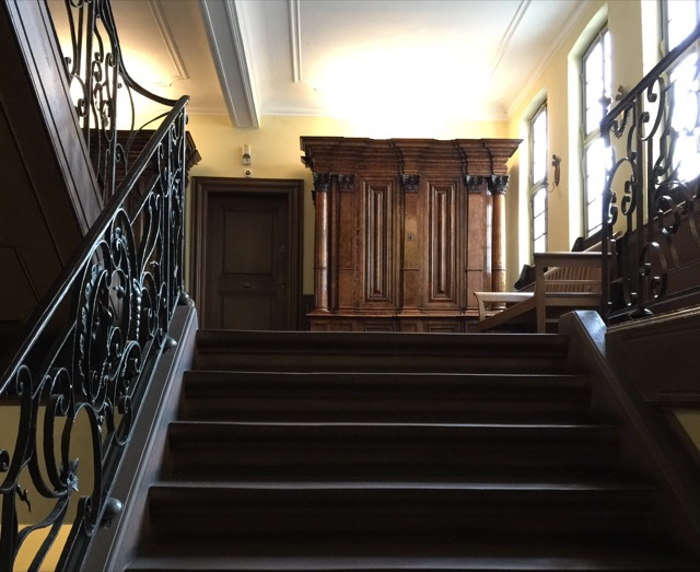 broad staircase in Goethehaus