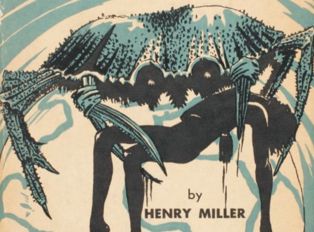 "Detail of the cover of the first edition paperback of ""Tropic of Cancer"""
