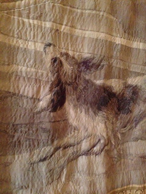 Dog in Jason Medea Story tapestry