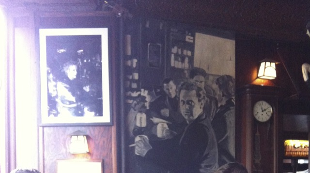 Dylan Thomas painting at the White Horse Tavern