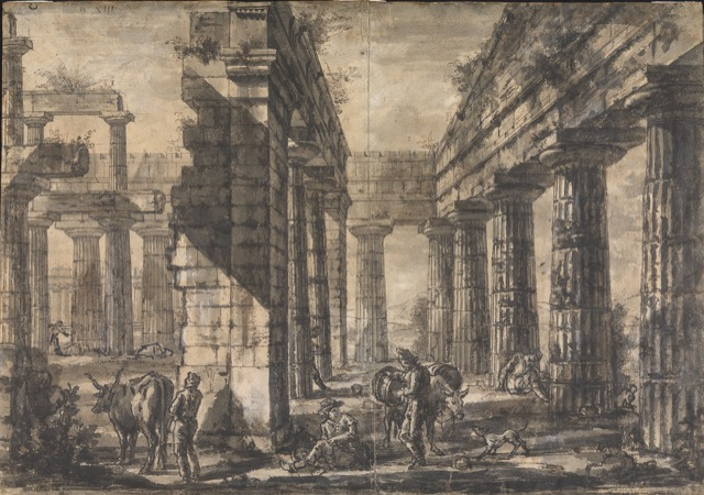 drawing of Paestum by Piranesi