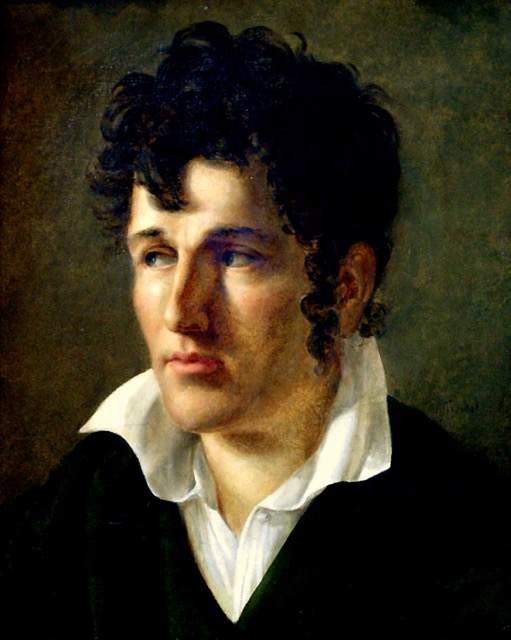 A portrait of François-René de Chateaubriand in this youth