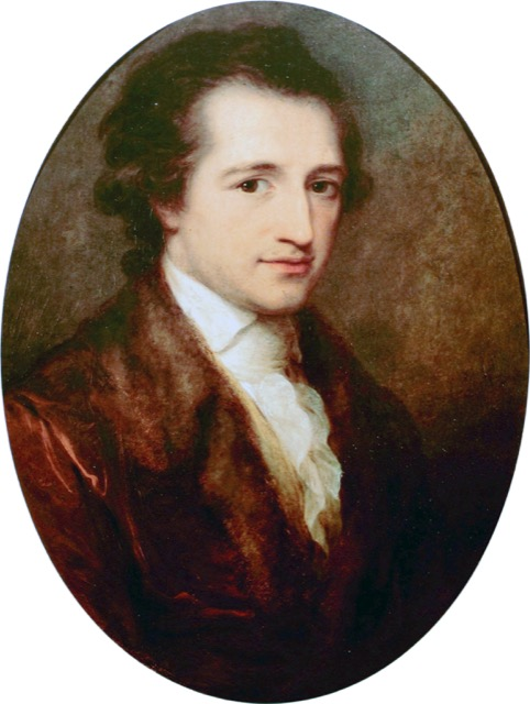 A 1787 portrait of Goethe by Angelica Kauffman