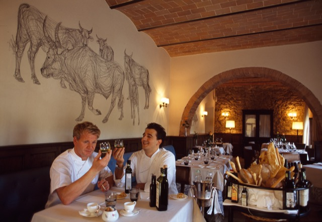 Gordon Ramsay at Castel Monastero
