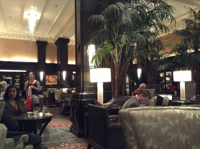 Lobby of Algonquin Hotel NYC