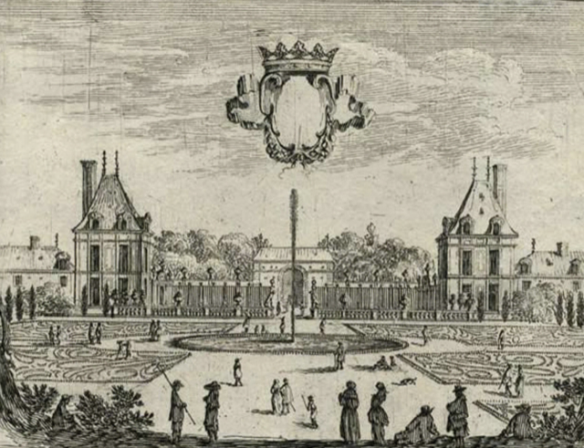 An engraving of Hotel Rambouillet