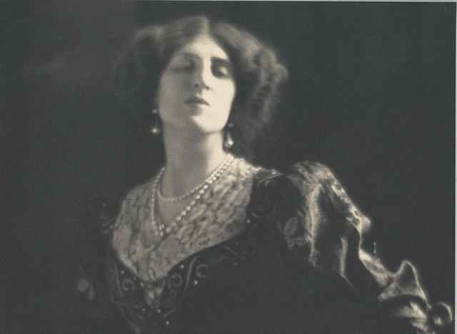 Portrait of Ottoline Morrell by Adolf de Meyer taken in 1912. Image courtesy WikiMedia.