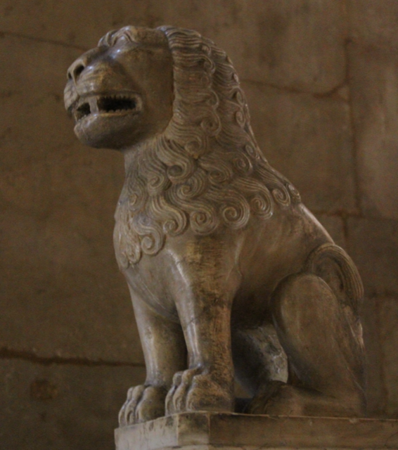 Lion Guards Stairs Bologna chapel