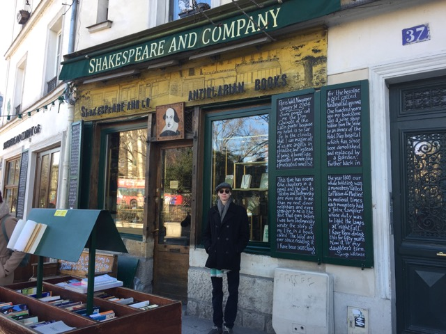Miles Stephenson at Shakespeare and Company Paris