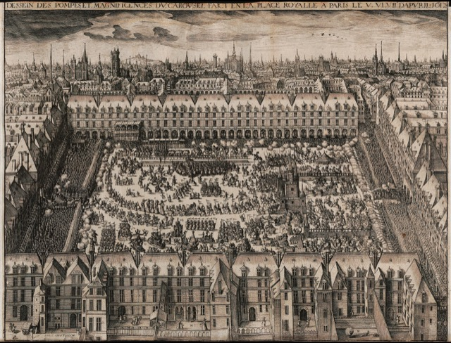 Place des Voges in 1612, then Place Royale