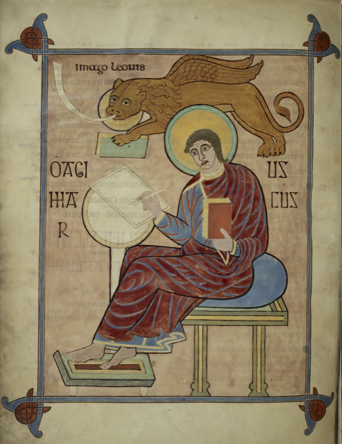 St Mark from the Lindisfarne Gospels