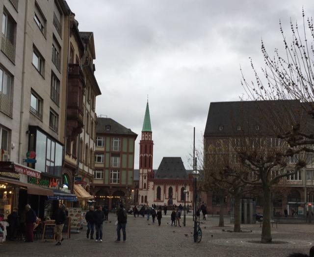 Römerberg Plaza looking toward the Old St. Nicholas church