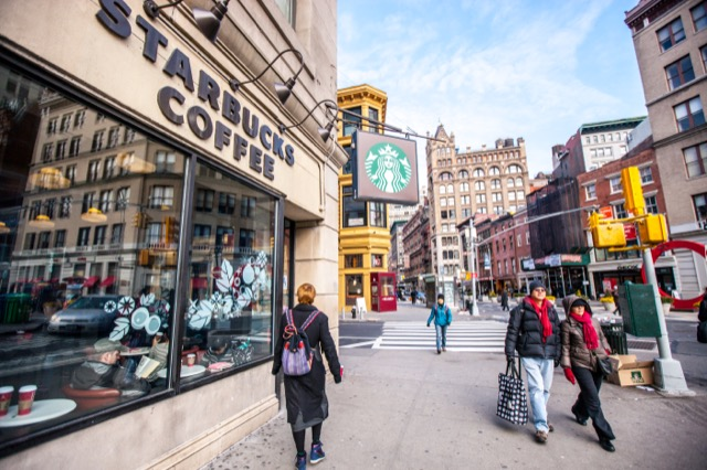 Starbucks now one of New York City's cafés
